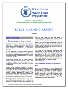 Early Warning Report (July-2006)